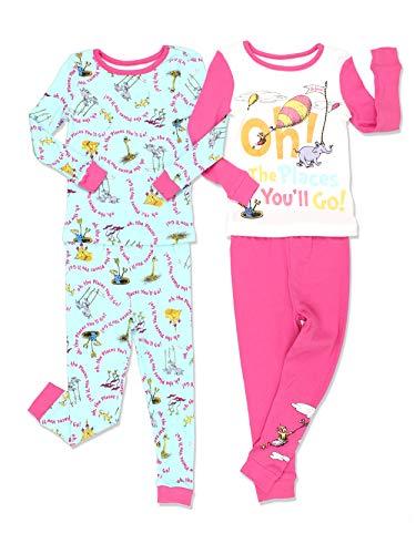 Dr. Seuss Toddler Girls Cotton 4 Piece 2fer