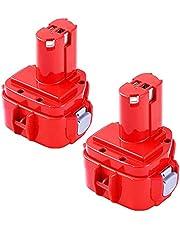 2 stycken 1222 4,0 Ah NI-Mh ersättningsbatteri för Makita batteri 12 V 1220 1222 PA12 1233S 1234 1235 1235B 1235F192696-2 192698-8 192698-A 193138-9 193157-5