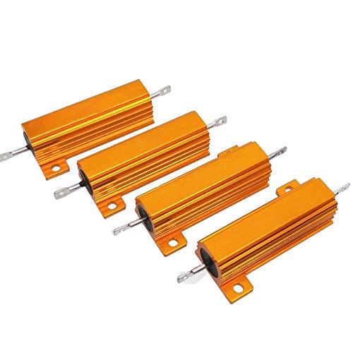 4pcs 1K ohm 1K 50W Watt Aluminum Housed Metal Case Wirewound - Wirewound Resistors Ohm