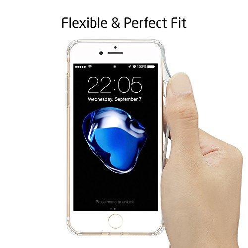 iPhone 7 Funda, ESR Carcasa iPhone 7 Case Cover Borde Suave + Duro Funda para iPhone 7 4.7 - Rosa Manjusaka Nube de Iris