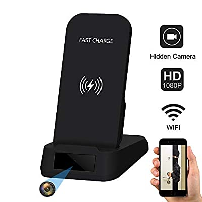 WiFi Hidden Camera Fast Wireless Charger Spy Camera,Kaposev 1080P Home Security Cameras Support Motion Detection and Night Vision,Real-time Monitoring and Video Recording Mobile Remotely Control