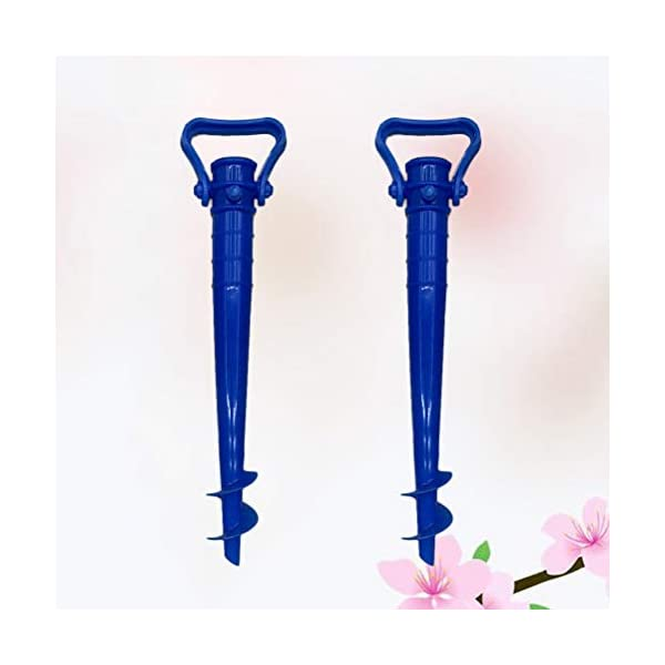 Yardwe 2Pezzi Picchetto di Supporto per ombrellone Mare Spiaggia in plastica Porta ombrellone da Spiaggia,Blu (16.5 x 7… 7 spesavip