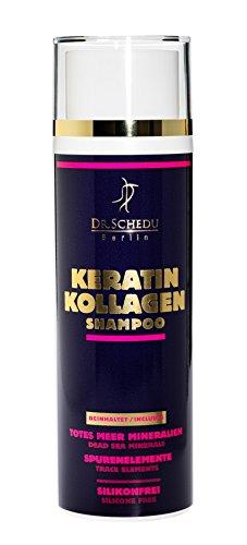 1 x Dr. Schedu Berlin Keratin Kollagen Totes Meer Shampoo 200 ml 100% silikonfrei, 100% parabenfrei & 100% tierversuchefrei, mit natürlichem Duft