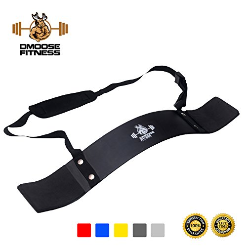 Arm Curl Blaster by DMoose Fitness – Thick Gauge Aluminum, Robust Rivets, Contoured & Adjustable – Improve Definition & Muscle Strength In Your Arms – Premium Grade Bodybuilding Bicep Bomber Isolator