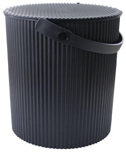 OMNIOUTIL negro Hachiman Cubo de basura de cocina multifuncion, tamano GRANDE, diseno Cubo de basura 20 L Taburete de almacenaje para juguetes caja