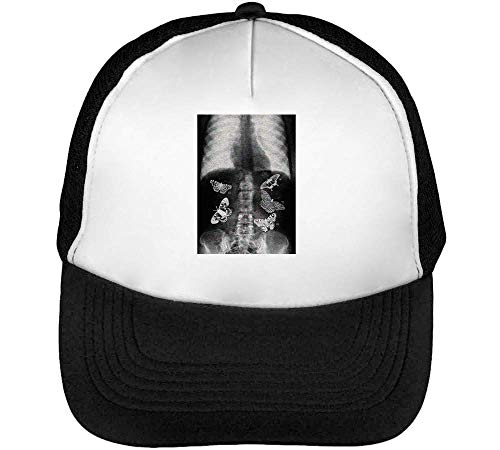 Negro In Snapback Hombre Gorras Blanco Butterfly Stomach Beisbol In 01n7q