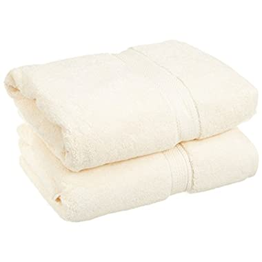 Superior 900 Gram Egyptian Cotton 2-Piece Bath Towel Set, Cream
