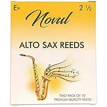 Novul Alto Sax Reeds Strength 2.5, 2 Packs of 10