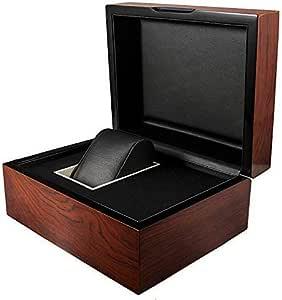 AG Caja de reloj de madera Cajas Para Joyas Hombre Mujer Regalo Viaje Madera sólida Pintura negra Madera Padre Caja de almacenamiento de reloj 19 * 15 * 10Cm: Amazon.es: Bricolaje y herramientas
