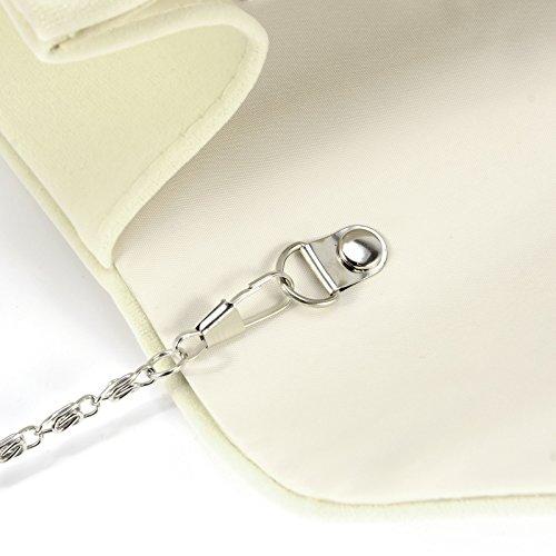 Purse Bag Beige Prom Women Bag Wedding Clutch Velvet Evening Handbag Ladies Anladia wqavp4p