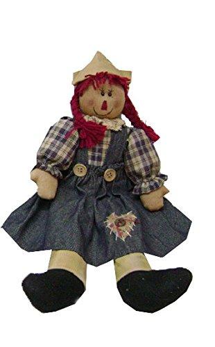 Primitive Raggedy Ann Doll (Craft Outlet Raggedy Anne Doll, 17-Inch)