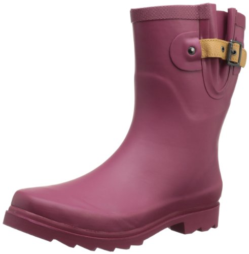 Chooka Womens Top Solid Mid Me Boot Merlot