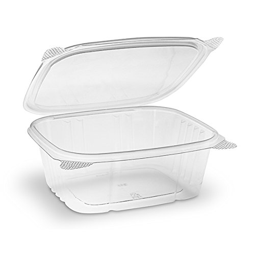 Riverbend Industrial - Food Grade Safe - Disposable Plastic Deli Storage Container with Hinged Lid, 32 oz, 100 pack