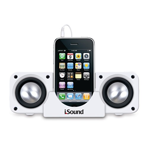 ISOUND - 2X Portable Speaker System Works with Any Audio Device with 3.5mm Audio Jack