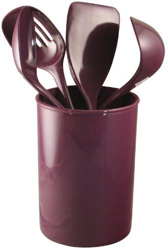 purple wooden spoons - 2