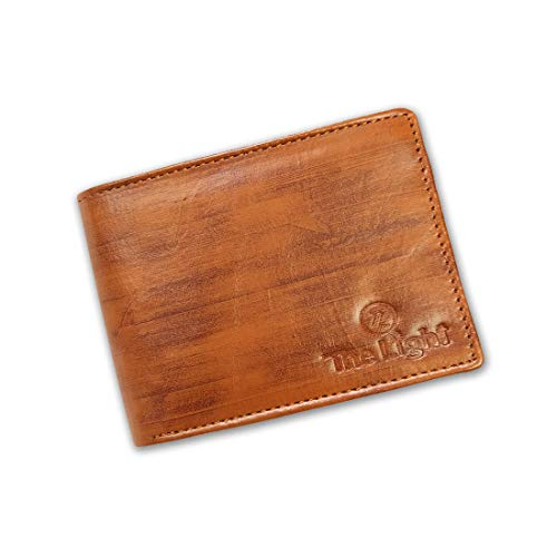 Tan Men Artificial Leather Wallet