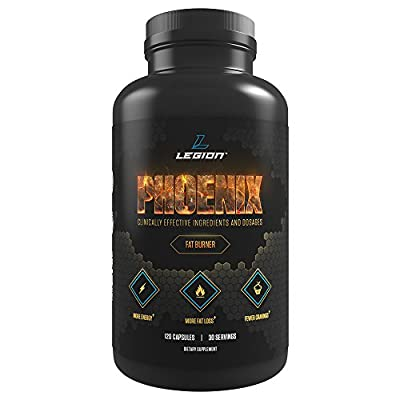 Legion Phoenix Caffeine Free Fat Burner Supplement - Best Thermogenic Weight Loss Pills for Men & Women to Boost Metabolism & Suppress Appetite. All Natural, Safe & Healthy. 30 Servings