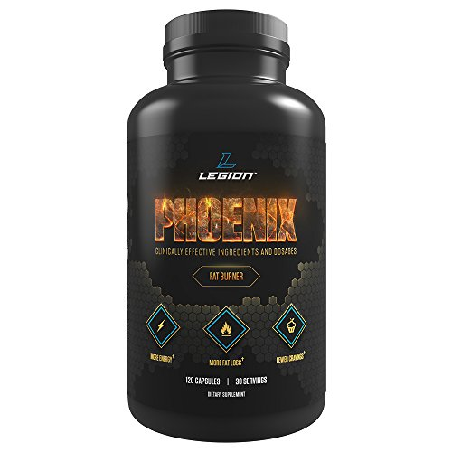 Legion Phoenix Caffeine Free Fat Burner Supplement - Best Thermogenic Weight Loss Pills for Men & Women All Natural Metabolism Booster & Appetite Suppressant Safe & Healthy 30 Servings