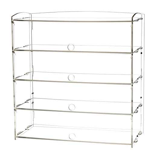 AJO Acrylic Pastry Display Case for Deli Bakery Convenience Stores Display (4 Tier)
