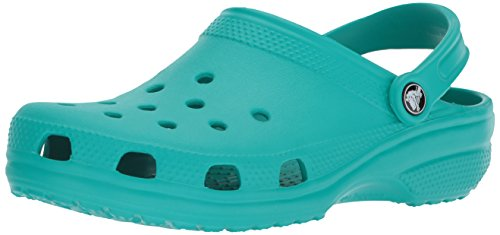 crocs Women's Classic Mule  Tropical Teal - 5 US Men/ 7 US Women M - Printed Croc
