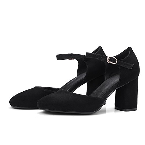 Urethane DIU00611 Black Sandals Womens Sandals AN Nubuck Toe Closed q058XC