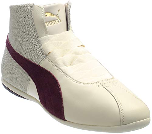 (PUMA Women's Eskiva Mid Remaster Birch/Winetasting Athletic Shoe)