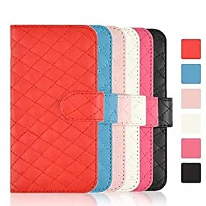 LIMME Fashion Large Lattice Flip Leather Wallet Design ID Card Case Cover for iPhone 6(Assorted Colors) , Black