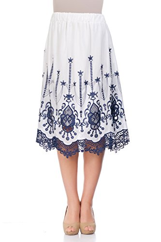 Womens Embroidered Skirt Set - 4