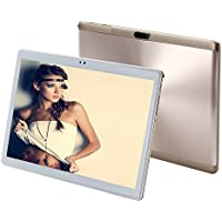 10 inch tablet pc Android octa core RAM 4GB ROM 64GB Dual SIM Bluetooth GPS 1920X1200 IPS Smart tablets pcs 101(gold)