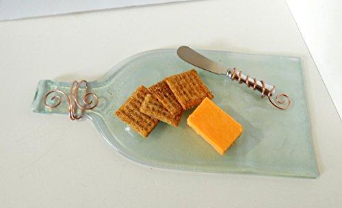 Cheese Platter Flattened Bottle Wire Wrap Knife Clear Recycled Bottle (Flattened Bottle)