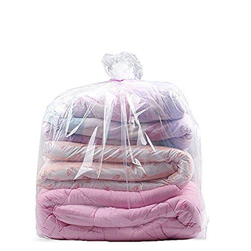 32x39 Inches Comforter Storage Bags Dustproof Moistureproof Jumbo Plastic Storage Bags for Blanket Clothes and Big Plush Toys Set of 10
