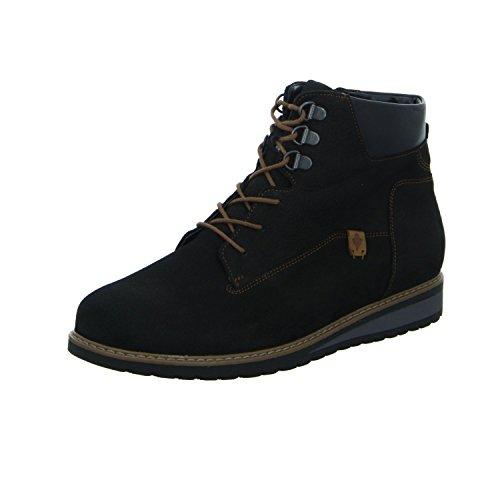 Waldläufer Black Leather Boots Womens Havida OIxp8Oqr