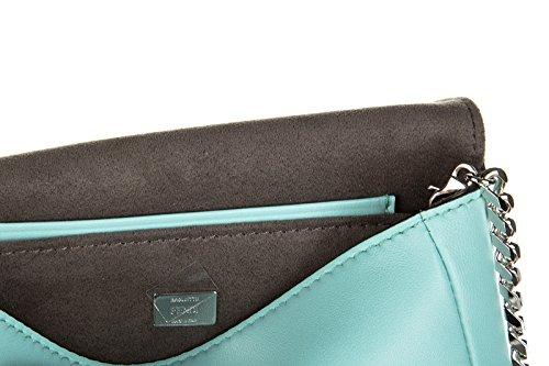 Leder Tasche Schultertasche Fendi Umhängetasche Damen Bag baguette blu micro 5qgzdtxz