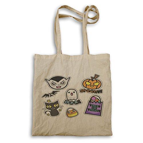 Beängstigender Halloween-Smiley Tragetasche r564r