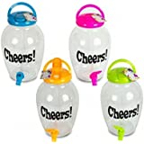 Set of 4 Novelty Cheers Indoor Outdoor Drink Dispenser Plastic With Tap 4.4L by BellO