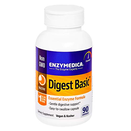 Enzymedica, Digest Basic, Dietary Supplement to Support Digestive Relief, Vegan, Gluten Free, Non-GMO, 90 capsules (90 servings)