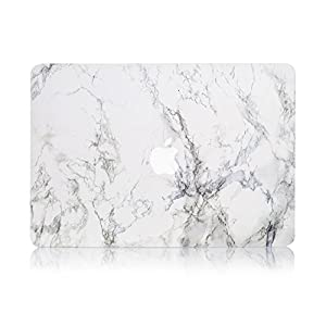"""Ruban-MacBook old Pro Retina 13"""" Case A1502/A1425 ,2 In 1 Smooth Ultra-Slim Light Weight PC Hard Case With Keyboard Cover For MacBook Pro 13"""" With Retina(Model:A1502/A1425)- White Marble"""