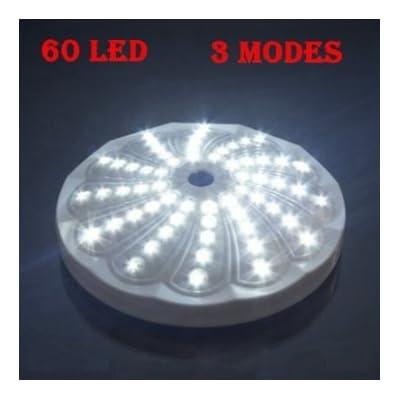 ufo 3 Mode 60 LED Torch Lumière Camping de suspension lampe blanche