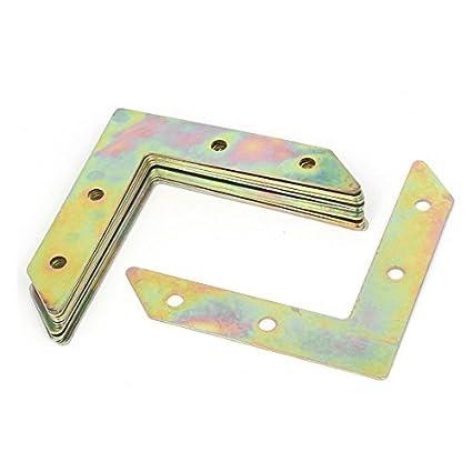 eDealMax de fotos marco en forma de L soporte angular placa plana sujetador del tono de bronce 10pcs - - Amazon.com