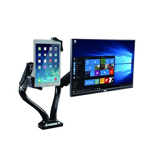 CTA Digital PAD-2AMT 2-1-In-1 Adjustable Monitor and Tablet USB Hub, Black