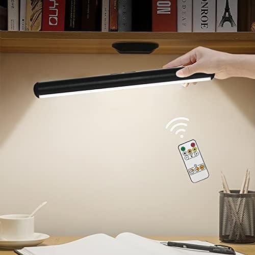 chollos oferta descuentos barato Lampara Escritorio LED Hapfish Lámpara de Mesa Magnética Inalámbrica con Mando a Distancia Flexo LED Escritorio con Control táctil Luz lectura de carga USB para Iluminación del Gabinete Mesita Noche