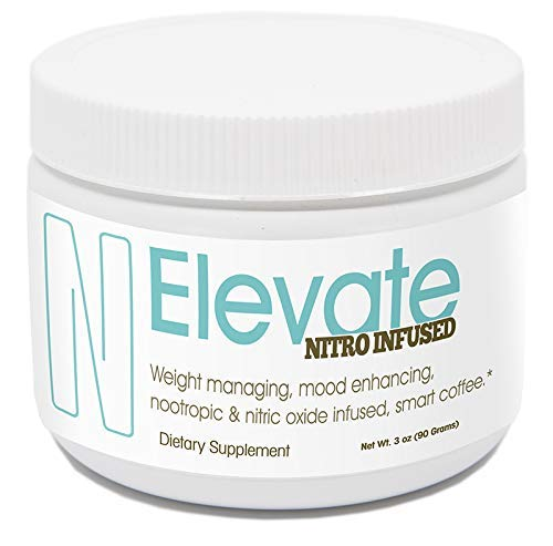 ELEVACITY Elevate Smart Elevate Nitro Coffee Tub 30 Servings Per Container 100 mg of Caffeine Per Serving