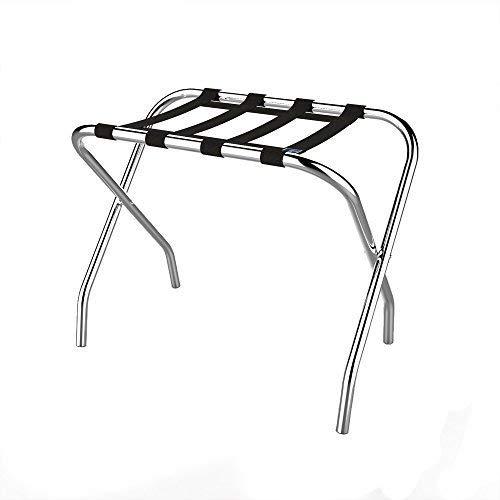 Lavish Home Chrome Folding Luggage Rack and Suitcase Stand Durable Folding Bag Holder with Black Nylon Straps by Lavish Home