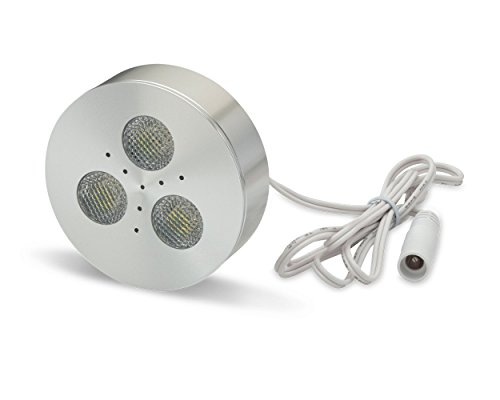 LEDQuant 3 Watt Under Cabinet LED Light, Puck Light, Warm White, UL Certified