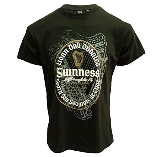 - Guinness Bottle Green Irish Label T-Shirt (Bottle Green, Large)