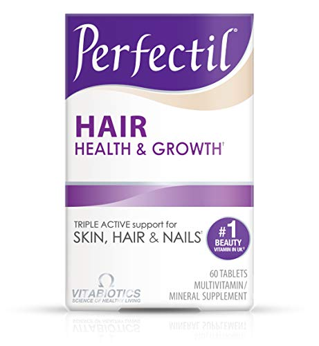 Vitabiotics Perfectil Hair Multivitamin to Support Hair Health & Growth | Biotin, Amino Acid, Folate, Copper and Grape Seed Extract (60 Tablets)