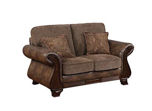 Admirable Amazon Com Benzara Bm182914 Upholstered Leather And Fabric Creativecarmelina Interior Chair Design Creativecarmelinacom