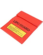 SUPVOX RC LiPo Li-Po Battery Fireproof Safety Guard Charge Bag Sack Protective Storage Bag Pouch 18x23cm (Red)