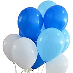 The New W0rld15 latex balloons 12-inch white and blue and light blue 100pcs