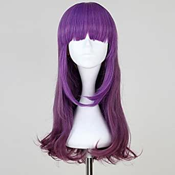 Great ulti-color Long Wavy Synthetic Ombre Purple Sweet Lolita Wig